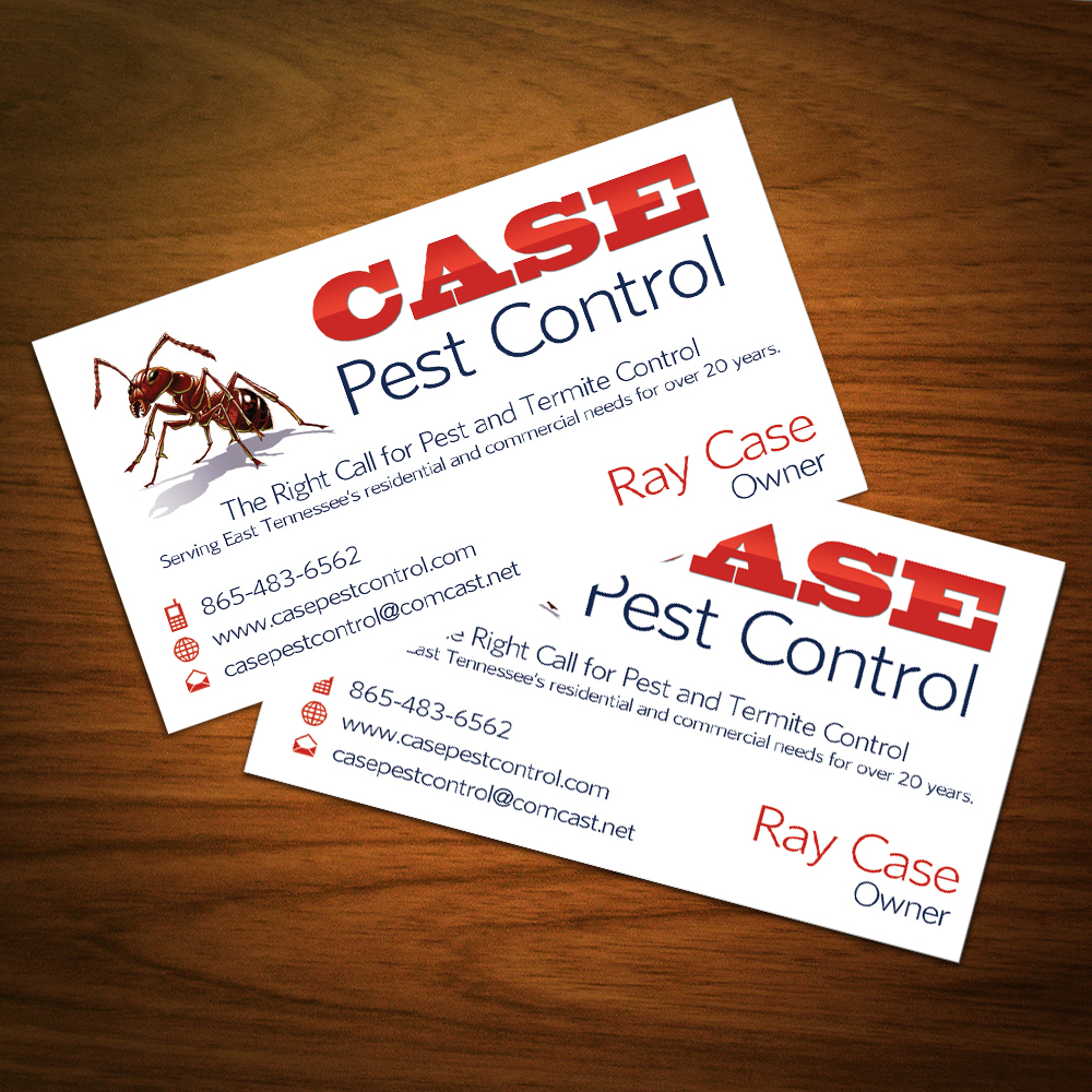 Cutting edge website design web site development based in knoxville tn case pest control biz card reheart
