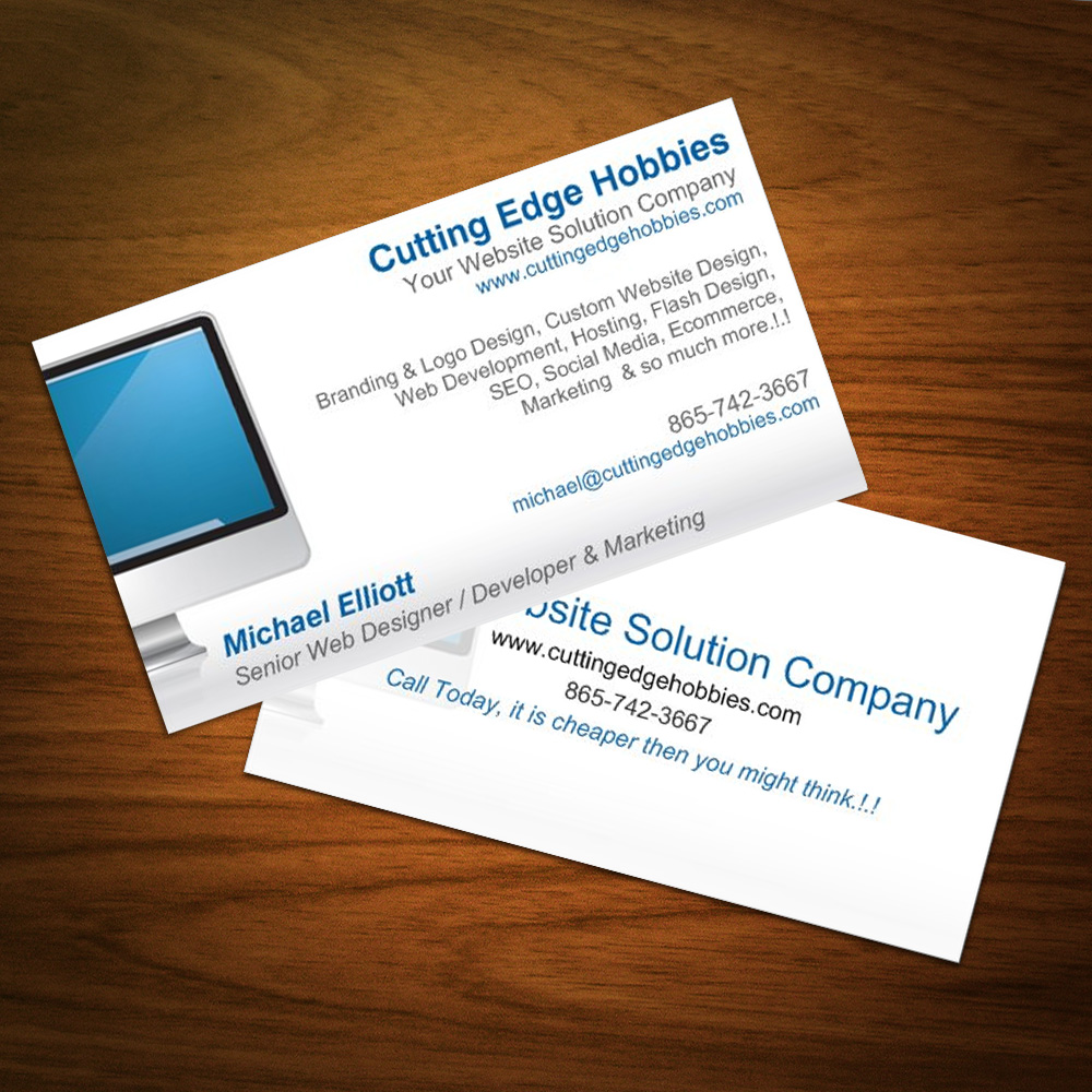 Business Card Design   Cutting Edge Hobbies