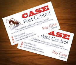 Case Pest Control Biz Card