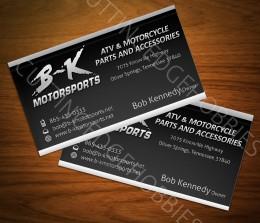 B-K Motorsports Biz Cards