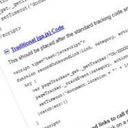 How do I manually track clicks on outbound links?